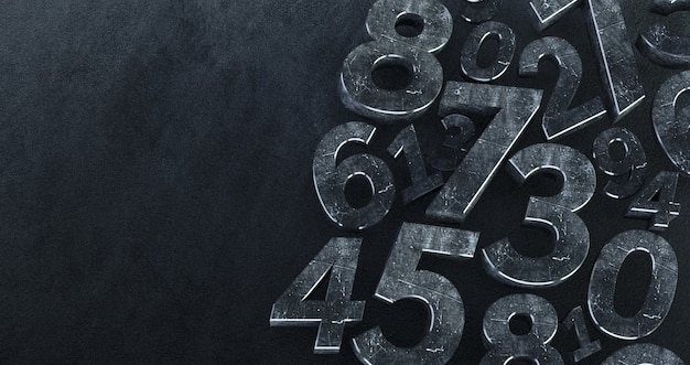 Background of numbers.