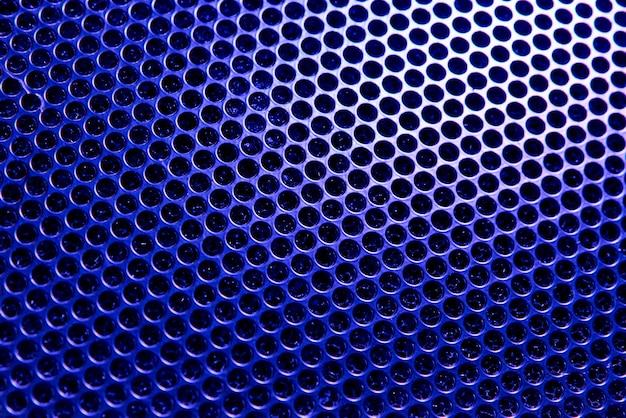 バックライトの青い格子の背景。