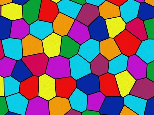 Фон ячейки разного цвета, например, витраж