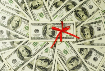 Background of a lot of money banknotes 100 dollars