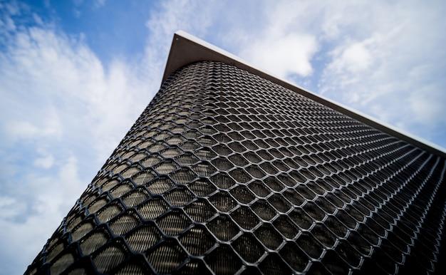산업 건물 hvac의 지붕에 에어컨의 배경