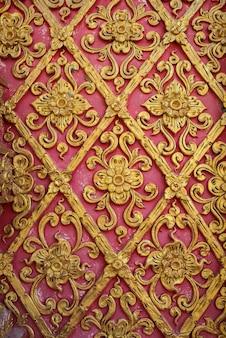 Фон древней росписи в тайском храме