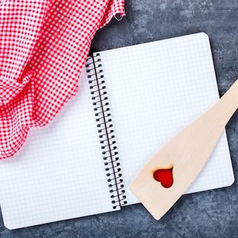 베이킹 재료의 배경입니다. 개념 발렌타인 데이입니다.