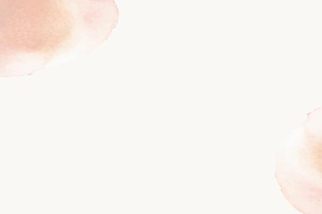 Фон бежевой акварели с оранжевыми пастельными пятнами в простом стиле