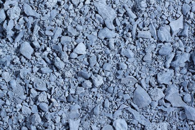 青い粘土の小石の石の背景