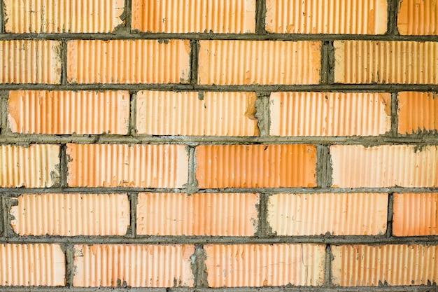 벽돌의 배경 붉은 벽돌 벽