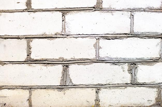 벽돌 흰색 벽돌 벽의 배경