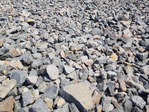 Фон из битых камней крупным планом текстура битого гравия