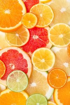 柑橘類のスライスの背景
