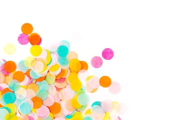 다채로운 종이 색종이, 휴일 개념의 배경