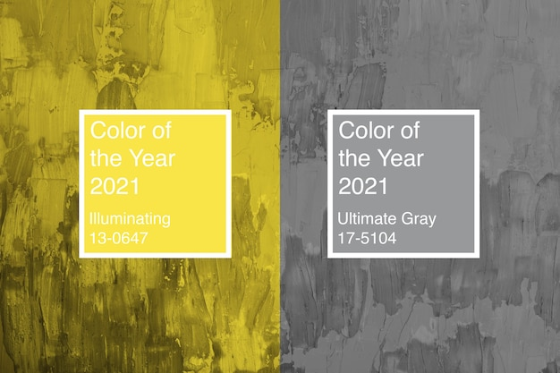 2021 년의 색 배경 ultimate gray and illuminating