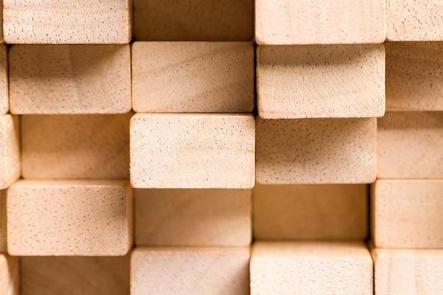 Фон из кубиков из бамбукового дерева