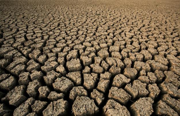 乾燥したひびの土壌の背景