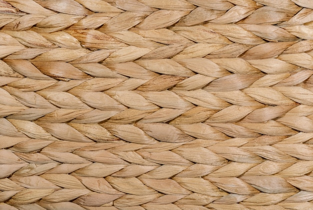 乾いた草の枝編み細工品の背景自然な背景とテクスチャ