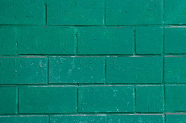緑のレンガの背景