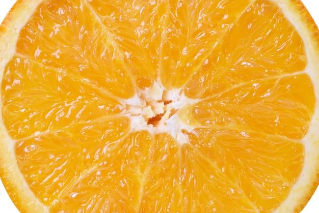 육즙 신선한 오렌지의 배경입니다. 매크로 촬영
