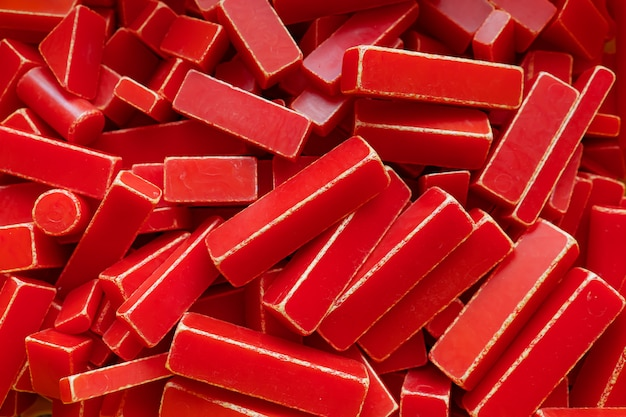 Фон из множества разных красных прямоугольников