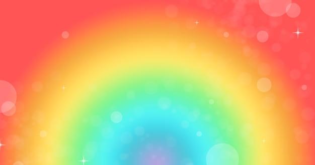 ボケ味と輝きのある色とりどりの明るいアークレインボーの背景。