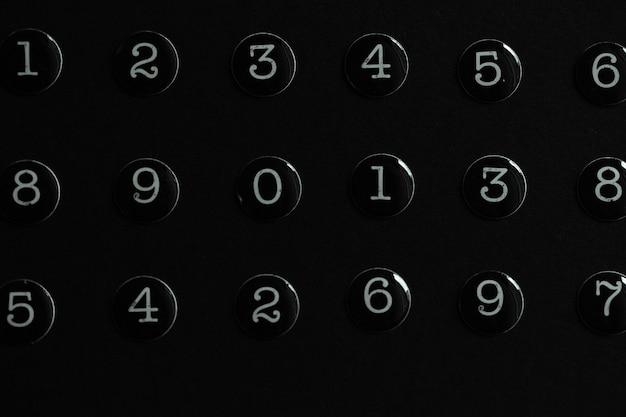 0에서 9까지의 숫자 배경
