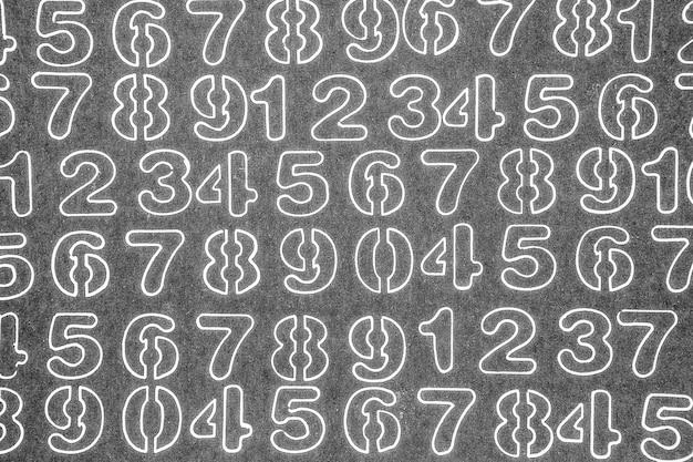 Фон чисел от нуля до девяти