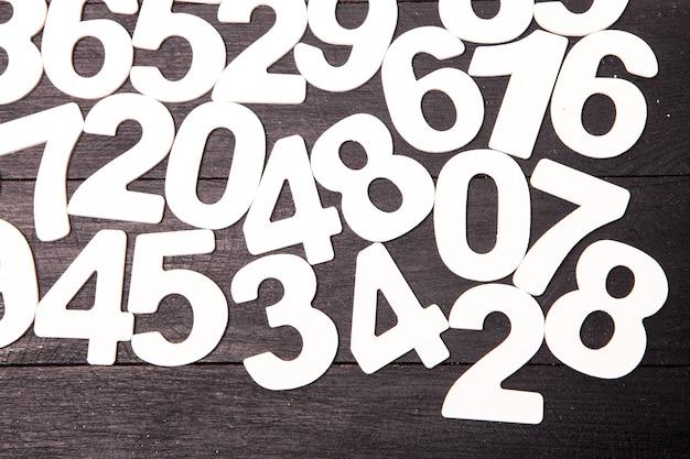 数字の背景または数字とのシームレスなパターン