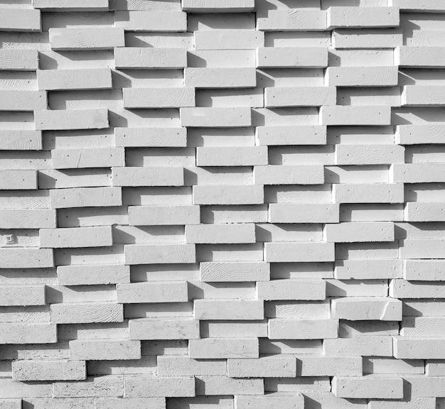 오래 된 빈 흰색 벽돌 벽 텍스처의 배경
