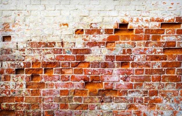 Фон старой старинной кирпичной стены текстуры