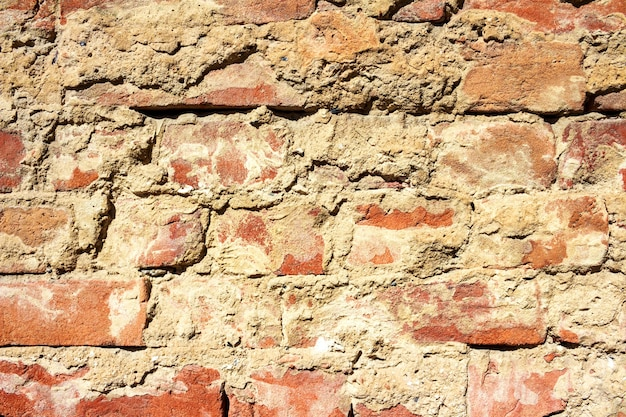 古いヴィンテージのレンガの壁の背景