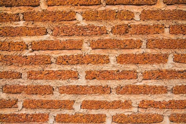 오래 된 빈티지 붉은 벽돌 벽의 배경