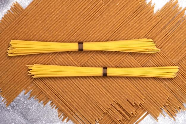 Фон макароны крупным планом спагетти