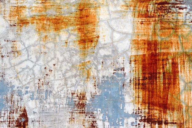Фон отслаивающейся краски и ржавого старого металла
