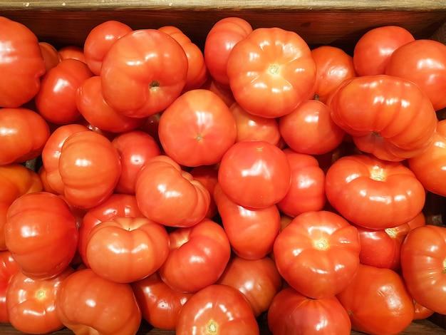 근접 촬영에 빨간 토마토의 배경 빨간 토마토의 질감