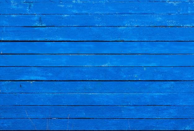 青い色で塗られた粗い板の背景