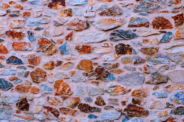 벽지로 사용하기 위한 돌담 질감 사진의 배경