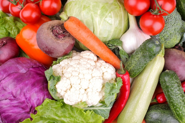 Фон из овощей