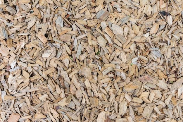 나무 톱밥의 배경, 공원에서 자연 표면