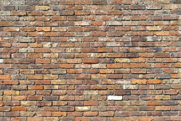 Background of old brown brick wall