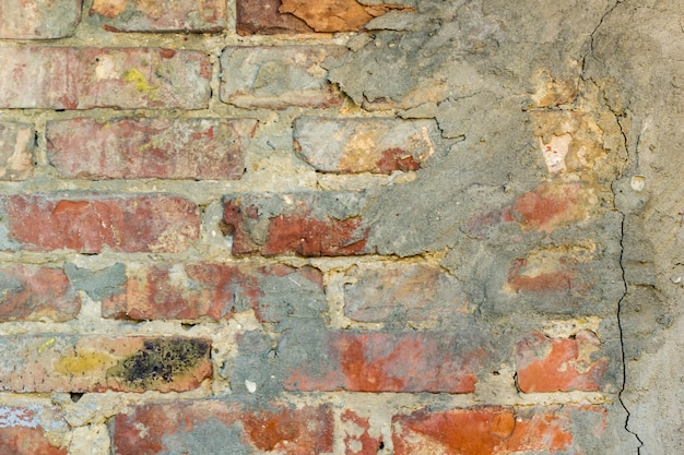 Background of old grunge brick wall texture