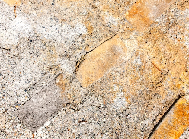 Background of an old surface of metal-concrete.