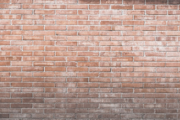 Background of old vintage brick wall. decorative dark brick wall surface for background