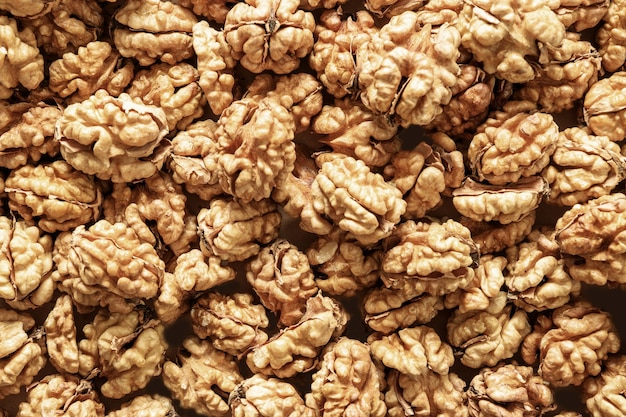 Фон или узор из грецких орехов без скорлупы