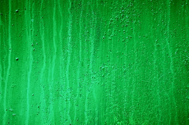 Background of a painted green iron metal sheet, iron texture