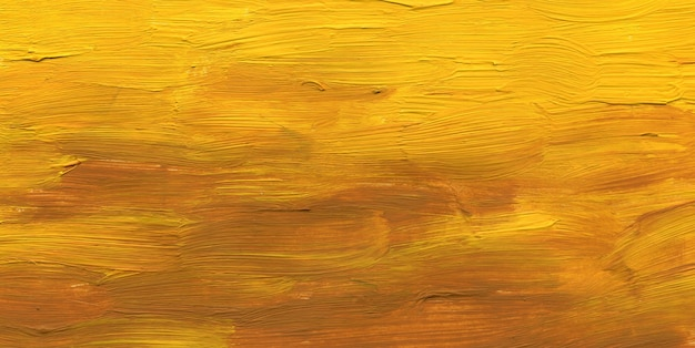 背景は黄色の薄茶色で描かれ、テクスチャはブラシストロークです