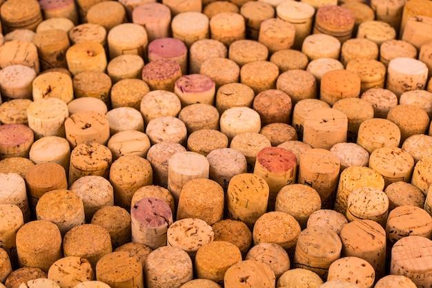 Background pattern of wine bottles corks.