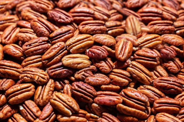 Background of pecan nuts