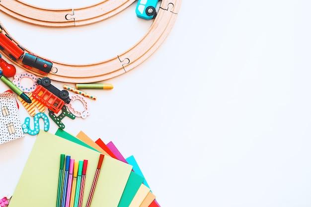 Background for preschool or kindergarten or art classes