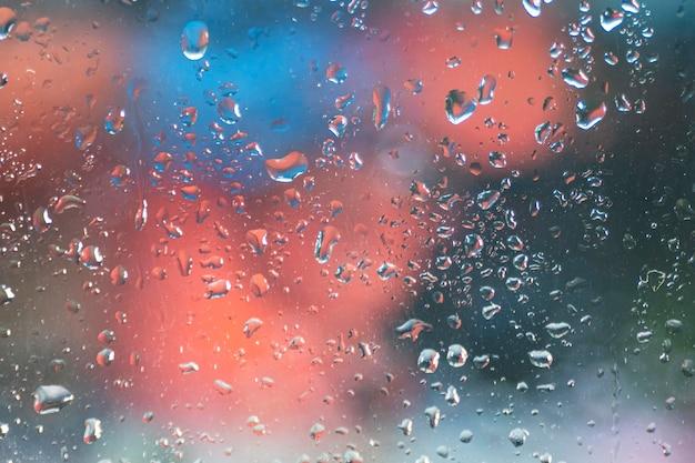 Фон капли дождя крупным планом