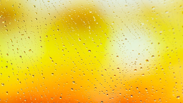 Gocce di pioggia di sfondo si chiudono