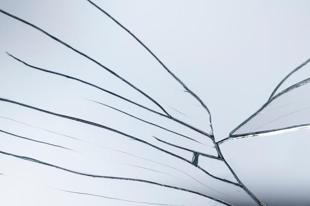 Sfondo di un realistico effetto vetro incrinato
