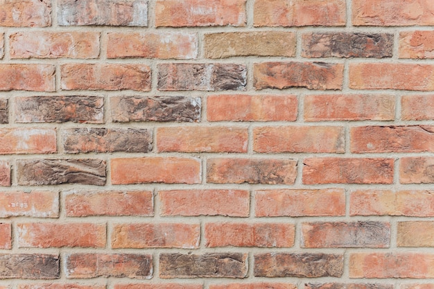 Background of red brick wall texture background
